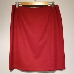 LOFT Maroon Wool Skirt
